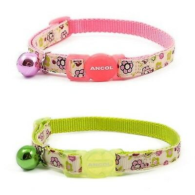 ANCOL FLOWER PRINT CAT COLLAR with or without Engraved ID Tag