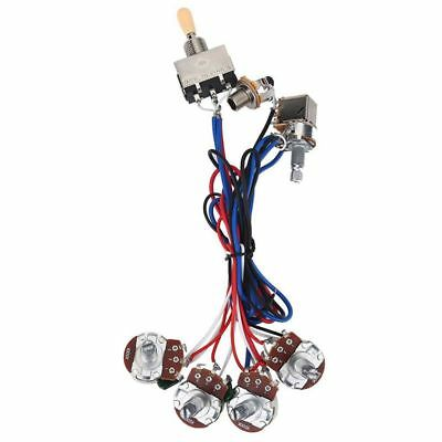 prewired guitar wiring harness 250k pots 3 way switch for fenderguitar parts wiring harness kit 2v 2t 3 way switch for les paul lp
