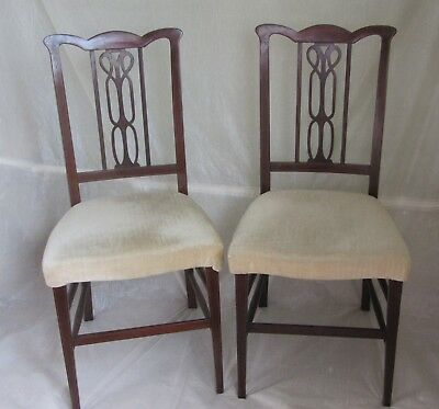 A pair of Edwardian bedroom chairs c1905