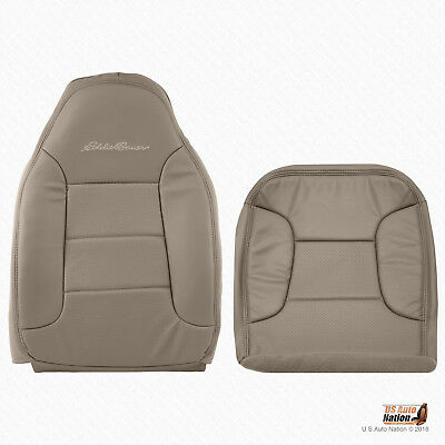 1992 - 1996 Ford Bronco Eddie Bauer Driver Bottom & Top Synth Leather Cover TAN