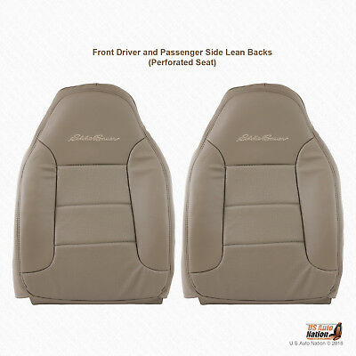 1992-1996 Ford Bronco Eddie Bauer Driver-Passenger Tops Synth Leather Cover TAN