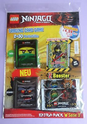 TRADING CARD GAME Extra Pack, Lego Ninjago, Serie 3 mit LE23 LUKE CUNNINGHAM