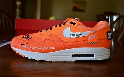 NIKE AIR MAX 1 SE JDI Just Do It Pack Orange Size 13 Men's Shoes