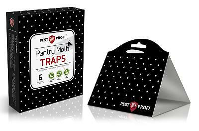 PestProfi Pantry Moth Traps Pack of 6 | with Pheromone Attractant | 100% Safe |