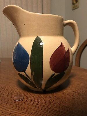 Vintage Watt Tulip Pitcher Number No 16 Usa