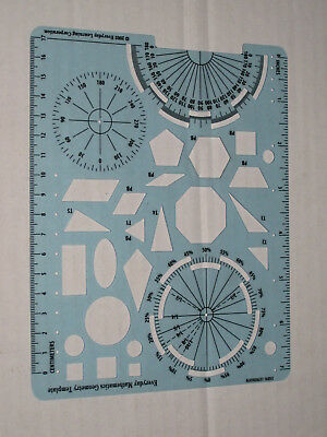 EVERYDAY MATHEMATICS GEOMETRY Template Protractor Shapes Centimeters ...