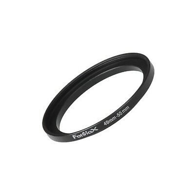 Fotodiox Metal Step Up Ring Filter Adapter, Anodized Black Aluminum 49mm-55mm
