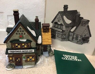 Dept 56 GIGGELSWICK MUTTON & HAM Lighted Dickens Heritage 1994 Village MIB
