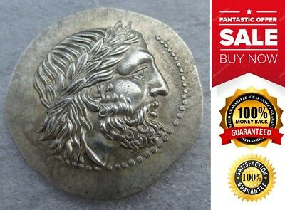 Ancient Greek King Philip II Rare Silver Tetradrachm Of Macedon 323 BC Coin