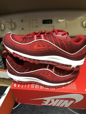 ce80432855 NIKE AIR MAX 98 SE TRiple Red AO9380-600 SIZE 9 97 1 Jordan XI
