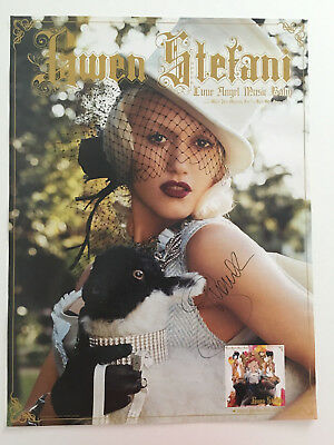 """Gwen Stefani Autograph Signed Poster 18"""" x 24"""" Love.Angel.Music.Baby"""