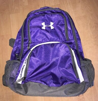 9dd062da87 PURPLE AND WHITE Under Armour Victory Backpack - $15.50 | PicClick