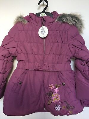 0949d1a27 BNWT BHS WINTER Coat. Hooded. Girls. Purple. Age 2 - 4 Years. Lined ...