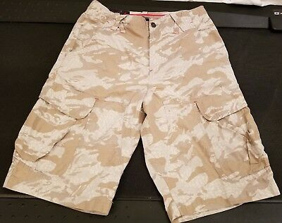 1d14eb787997e7 NIKE AIR JORDAN Fly Cargo Camo Khaki Zip Pockets Mens Shorts Size 28 ...