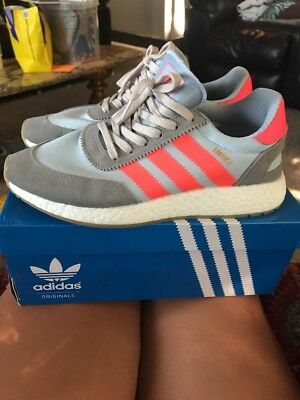 new style 58a96 ce344 ADIDAS INIKI RUNNER GREY TURBO GUM VNDS BB2098 Size 9