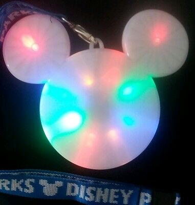 Disney Mickey Mouse Light-Up Head With Blue Lanyard