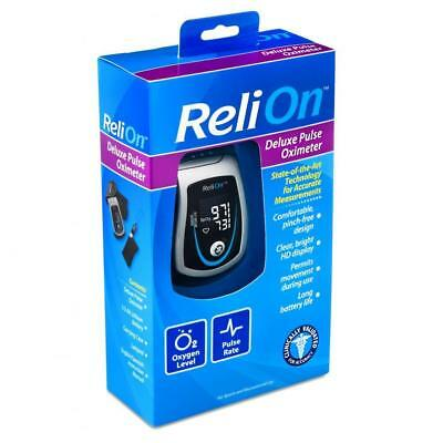 ReliOn Deluxe Pulse Oximeter New In sealed Box
