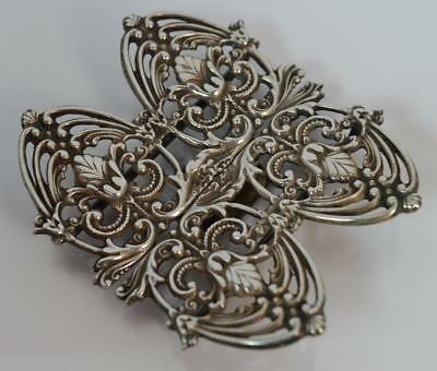 Quality Sterling Silver Nurses Buckle of Victorian Design