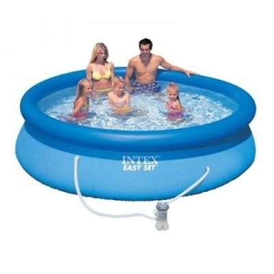 my splash Intex 8ft 10ft 12ft 15ft Easy Set Round Swimming Pool with Pump Filter