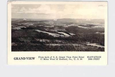 Rppc Real Photo Postcard Pennsylvania Bedford Grand View From Deck Of Ss Grand V