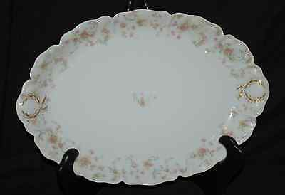 "(1) 11-1/2"" x 16"" Scalloped Platter Haviland China Limoges France  The Princess"