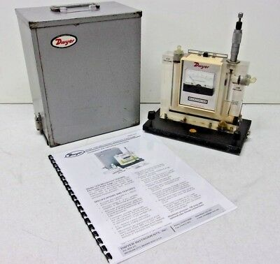 Dwyer Model 1430 Portable Point Gauge Microtector Manometer w/Hard Case, Working