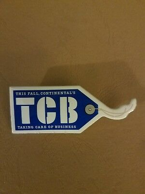 """Vintage Continental Airlines """"TCB"""" campaign pin"""