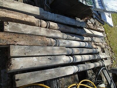 Lot of Antique Vintage  Victorian wood Fur,  Column, Post porch,  sold separate