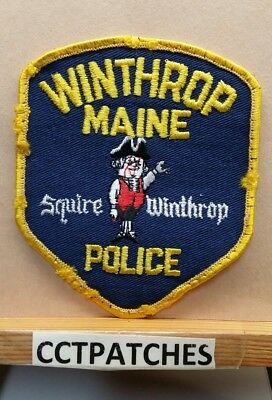 Winthrop, Maine Police Shoulder Patch Me