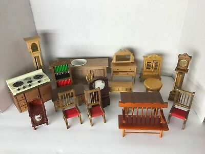Miniature Dollhouse Furniture Vintage Lot Of 18