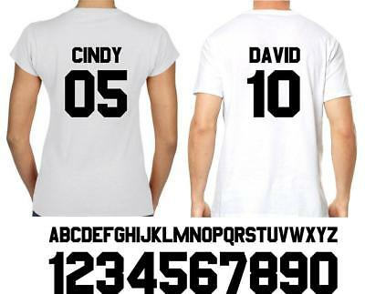 DIY JERSEY NAME AND NUMBER CUSTOM Iron On Heat Transfer sport jersey 02