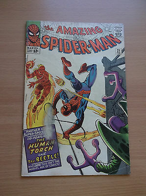 Marvel: Amazing Spider-Man #21, Featuring: Human Touch & Beetle, 1965, Vg+!!!