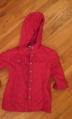b3ac05f8 TOMMY HILFIGER GIRLS Red Quilted Coat Size 4 - $19.99 | PicClick
