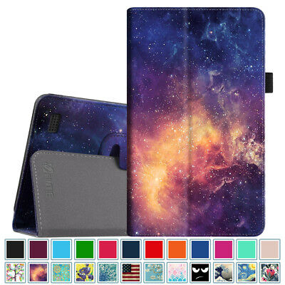 """For Amazon Fire 7 7th Gen 2017 / 5th Gen 2015 7"""" Tablet Folio Case Cover Stand"""
