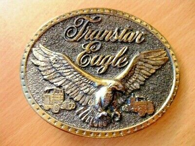 Vintage Bronze Toned ** TRANSTAR EAGLE ** International Harvester BELT BUCKLE