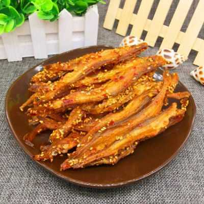 Chinese Delicious Sesame Eel Silk Spicy Strips Snack Food Dried Seafood Yummy.