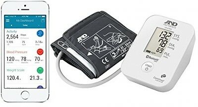 A and D Medical Upper Arm Blood Pressure Monitor With Bluetooth FREE POST UK