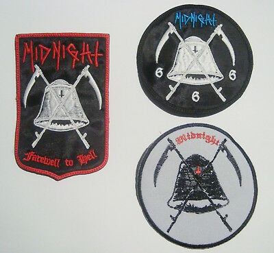 MIDNIGHT- LOGO Embroidered PATCH Nifelheim Cruel Force Gehennah Desaster Abigail