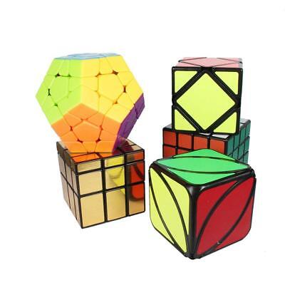 Set of 5, Speed Cube Rubiks Cube Bundle Turns Smoothly Easy Puzzle for Kids