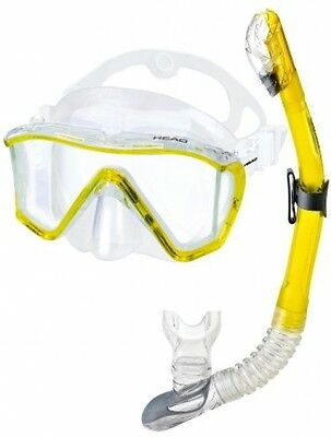 Head By Mares 3 Window Mask Dry Snorkel Set, Yellow UK POST FREE