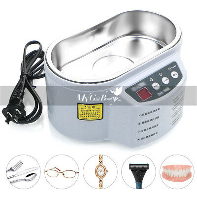 Professional Ultrasonic Jewelry and Eyeglass Cleaner Machine Ultra Sonic Timer A