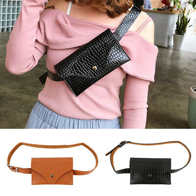 AU Womens Waist Bag Fanny Pack PU Leather Bag Belt Purse Small Purse Phone Pouch