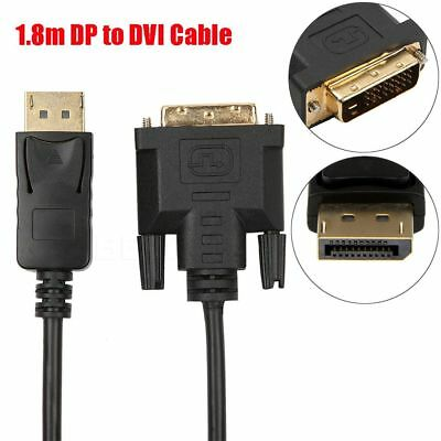 New 1.8M Gold Plated DisplayPort DP to DVI Male to Male Adapter Converter Cable.