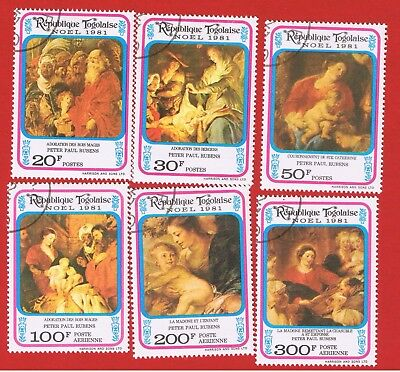 Togo #1126-1128 #C457-459 VF used  Christmas  Free S/H