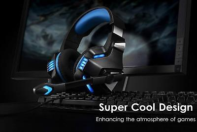 NEW Gaming Headset Mic Stereo Surround Noise Reduction for PS4 Xbox One PC Mac