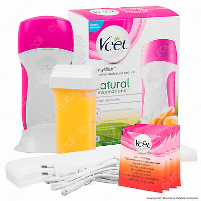 Veet Kit Scaldacera Elettrico Natural Inspirations Depilazione Roll on