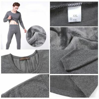 Men's Winter Warm Thermal Underwear Thicken Pullover Tops and Pants 2pcs/Set AU