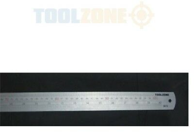 Toolzone Large Stainless Steel Ruler 1m / 40'' Metric Ruler