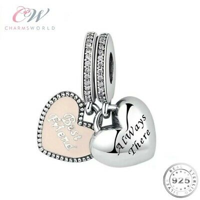 Best Friends Charm Pendant 925 Silver for Charm Bracelet - Always There