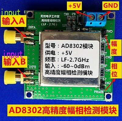 AD8302 Amplitude Phase Detection Module 2.7GHz RF/IF 14TSSOP Phase Detector New